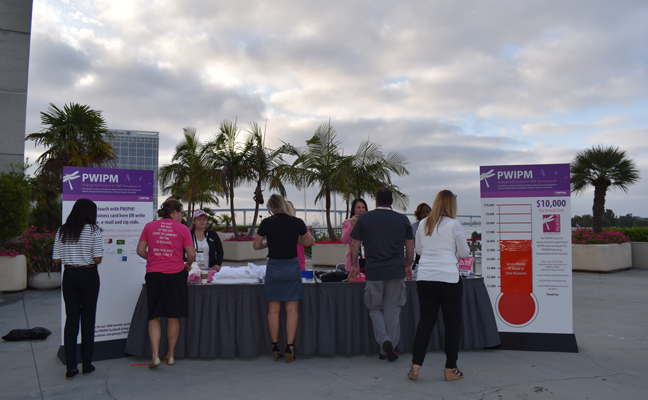 PWIPM sold t-shirts and branded gear to networking breakfast attendees. PHOTO: DANIELLE PESTA