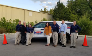 From left are Arrow team members Zack Sutton, Sandra Roland, Harleigh Chambers, Kristal Seay, Dickie Goswick, Mike Clevens and Dustin Anderson. PHOTO: ARROW EXTERMINATORS