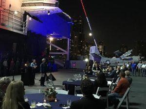 Naumann's retirement celebration on the USS Midway in San Diego, Calif. PHOTO: COPESAN