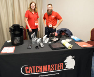 The Catchmaster crew of Kim Geissel, Northeasten US and Eastern Canada Regional Manager, stands alongside Chris Ernst, the Director of Brand Strategy. PHOTO: MARTY WHITFORD