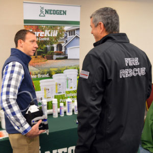 Casey Prewitt, Neogen's Director of Sales at the New York Pest Expo. PHOTO: MARTY WHITFORD