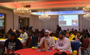 Attendees at the 2019 New York Pest Expo watching the North Jersey Young Marines present the colors and escort Dr. Stan Cope, the event's keynote speaker. PHOTO: DANIELLE PESTA