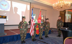 The North Jersey Young Marines presenting the colors at the 2019 New York Pest Expo on Nov. 8, to kick off Veterans Day weekend. PHOTO: DANIELLE PESTA