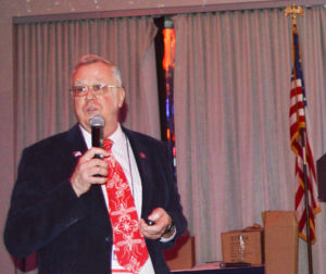 """Dr. Stanton Cope, VP of Technical Products and Services at Catchmaster during his New York Pest Expo presentation: """"Pest Management in the U.S. Department of Defense."""" PHOTO: MARTY WHITFORD"""