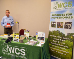 Jeff Shaw, a partner with Wildlife Control Solutions, at the 2019 New York Pest Expo. PHOTO: MARTY WHITFORD