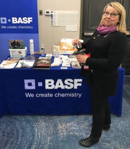 Karen Boniface with BASF. PHOTO: MARTY WHITFORD