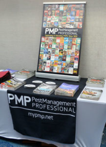 PMPs booth at the 2019 New York Pest Expo displaying our latest issue and State of the Industry. PHOTO: MARTY WHITFORD