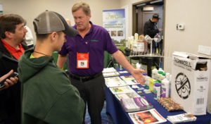 Pat Ryan with PDM at the 2019 New York Pest Expo. PHOTO: MARTY WHITFORD