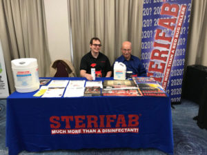 The Sterifab team of Spencer Goldrich and Mark House at the 2019 New York Pest Expo. PHOTO: MARTY WHITFORD