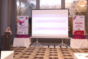 Ayesha Azam, Urban Pest Management Pakistan, presents the motives and opportunities offered by PPWIPM-NPMA, USA. PHOTO: MUHAMMAD AHMAD