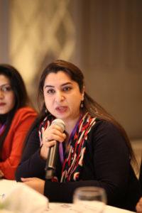 Amina Khalid, QA for McDonald's Pakistan, addresses the importance of women in the right implication of IPM at restaurants. PHOTO: MUHAMMAD AHMAD