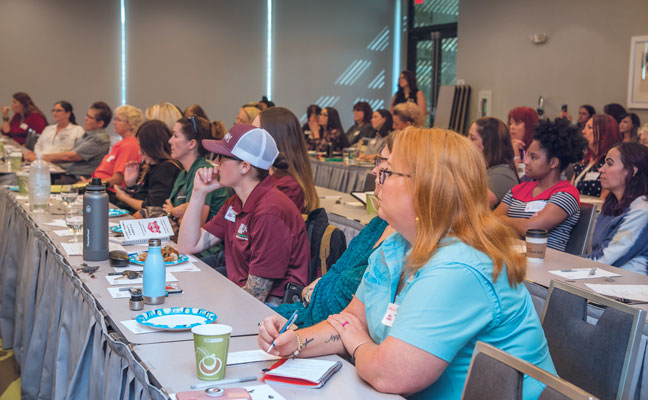 WIPC conference attendees listen intently to a technical presentation. PHOTO: ANNA MUNOZ