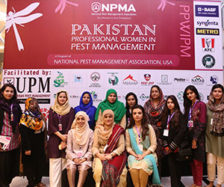Some of the attendees of the Pakistan Professional Women in Pest Management event. PHOTO: MUHAMMAD AHMAD