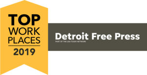 LOGO: TOP WORKPLACES 2019, DETROIT FREE PRESS