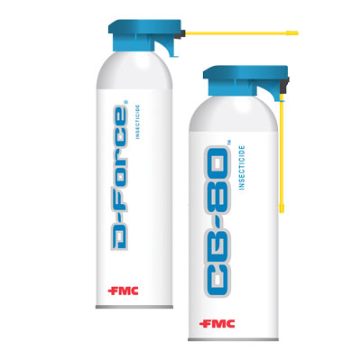 D-FORCE and cb80 insecticides. PHOTO: FMC