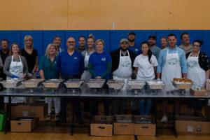 Nozzle Nolen volunteers served more than 200 children Thanksgiving dinner this year. PHOTO: NOZZLE NOLEN