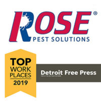 LOGO: ROSE PEST SOLUTIONS; TOP WORKPLACES 2019, DETROIT FREE PRESS
