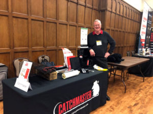 Dr. Stan Cope stand alongside the Catchmaster booth at the 2020 Purdue Pest Management Conference. He also presented on the first day of the event. PHOTO: HEATHER GOOCH