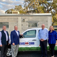 From left: Tim Pollard, Kevin Burns (Arrow), Roger Lewis (Lewis Cobb Pest Control), & Emily Thomas Kendrick (Arrow). PHOTO: ARROW EXTERMINATORS