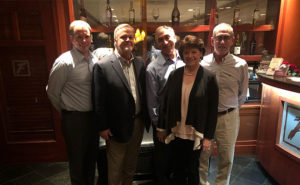 From left are George Todd, VP of corporate development for Certus; Rand Hollon of Preferred Business Brokers; Howard Hoskins, owner of Hoskins Pest Control; Mary Jo Strickland of Hoskins Pest Control; and Ben Kaplan, CFO of Certus. PHOTO: CERTUS