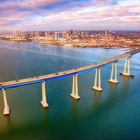 The Coronado Bridge over the San Diego Bay. PHOTO: ART WAGER/E+/GETTY IMAGES
