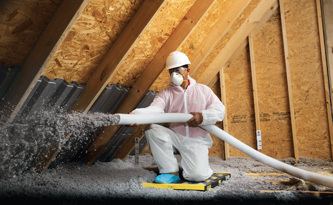 The insulation blow-in process uses equipment that is minimally disruptive to occupants. PHOTO: PEST CONTROL INSULATION