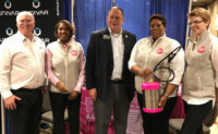 Pictured from left are Pat Callahan, Pelsis/B&G Equipment Corp.; Faye Golden, Cook's Pest Control and Co-chair, PWIPM of Alabama; Bob Plaster, Assistant Commissioner, Alabama Department of Agriculture; Dr. Sonja Thomas, Auburn University-PSEP and Co-chair, PWIPM of Alabama; and Kristiana llies, Auburn University. PHOTO: PWIPM OF ALABAMA