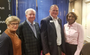 Pictured from left are Carol Cauthen, APCA Executive Director; Butch Cauthen, Oldham Chemical Company; Bob Plaster, Assistant Commissioner, Alabama Department of Agriculture; and Faye Golden, Cook's Pest Control and Co-chair, PWIPM of Alabama. PHOTO: PWIPM OF ALABAMA