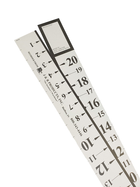 """Installing an  """"R stick,"""" or attic  ruler, can help determine whether  the depth of insulation is sufficient as the years pass. PHOTO: J&R PRODUCTS INC."""