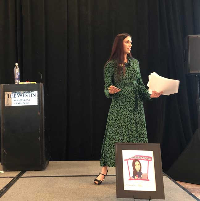 Mandy Berkowitz, founder of The Image Marketing Group, was keynote speaker at ServSuite University 2020. She shared a seven-part marketing framework to help companies communicate more effectively with customers. PHOTO: DIANE SOFRANEC/PMP
