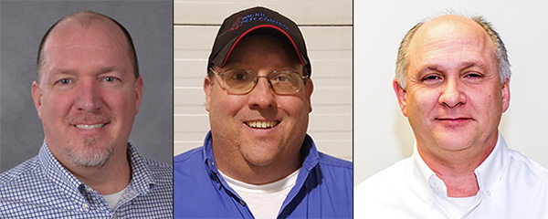 Terry Witter, Jeff Daane and Norm Shonkwiler all earned their ACE designation. PHOTOS: WIL-KIL PEST CONTROL