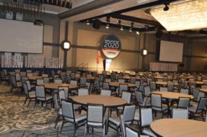 The Presidential Ballroom would be bustling with Legislative Day attendees less than 24 hours later. PHOTO: PMP STAFF