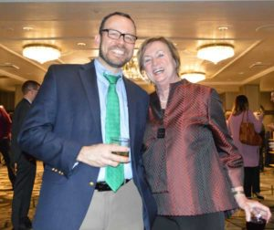 NPMA Vice President of Technical and Regulatory Affairs Dr. Jim Fredericks and PPMA Executive Director and NPMA Vice President of Public Affairs Cindy Mannes enjoy the Legislative Day Welcome Reception. PHOTO: PMP STAFF