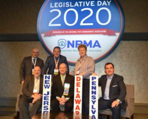 New Jersey, Delaware and Pennsylvania members of the NPMA take a photo break. PHOTO: PMP STAFF