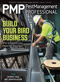 PMP March 2020 cover. PHOTO: BLUE RIDGE WILDLIFE & PEST MANAGEMENT