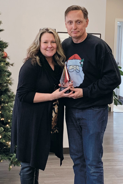 Wendy Sepsey is Schopen Pest Solutions' 2019 Employee of the Year. PHOTO: PETE SCHOPEN