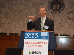 MGK's Steve Gullickson introduced the speakers at the NPMA's Headquarters on the Hill luncheon the company sponsored. PHOTO: PMP STAFF
