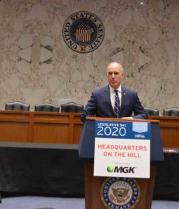 Bob Casey (D-Pa.) told those gathered for the Headquarters on the Hill Luncheon that PMPs' work may be appreciated more with the recent heightened awareness of public health. PHOTO: PMP STAFF
