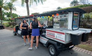 Two beverage carts were sponsored by Control Solutions Inc. (CSI), Pasadena, Texas. PHOTO: LOU FERRARO, PARK SOUTH PHOTOGRAPHY