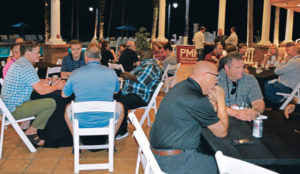 The Wednesday night reception was a place to unwind and catch up with one another. PHOTO: PMP STAFF