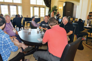"""The Reunion Resort's lobby served as a de facto """"bullpen"""" for attendees who were between meetings and wanted to network with their colleagues with a cup of coffee and a snack. PHOTO: PMP STAFF"""