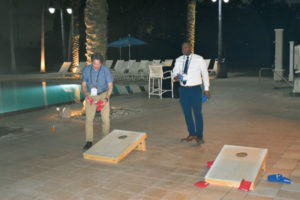 A PMP Growth Summit tournament has become something of a tradition at the evening receptions. PHOTO: PMP STAFF