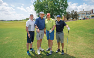 With a score of 63, the golf scramble first-place foursome consisted of, from left, Tom Algeo, CSI; Bill Cowley, Cowley's Pest Services; Jerry Smith, Dial Pest Control; and Ty Ferraro, CSI. PHOTO: LOU FERRARO, PARK SOUTH PHOTOGRAPHY