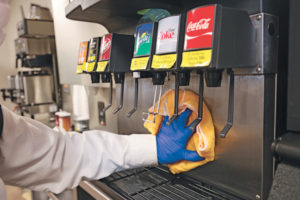 Soda fountains are often a sanitation issue that leads to a pest issue. PHOTO: GRANT HUNKER/TRULY NOLEN PEST CONTROL
