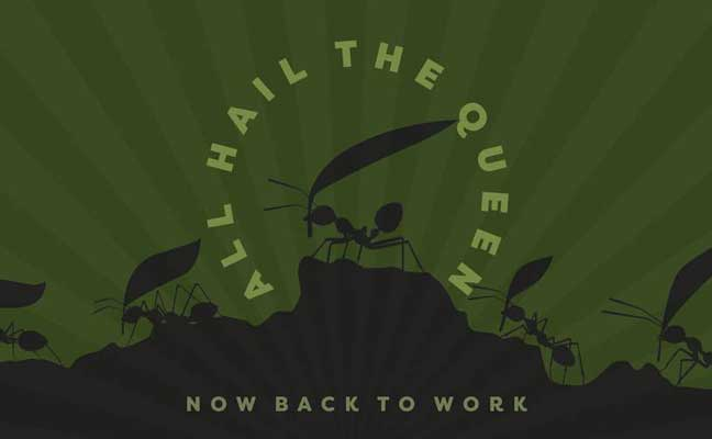 """LOGO: FACEBOOK GROUP - """"A group where we all pretend to be ants in an ant colony"""""""