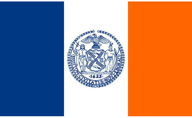 The official flag of New York City. SOURCE: WWW1.NYC.GOV