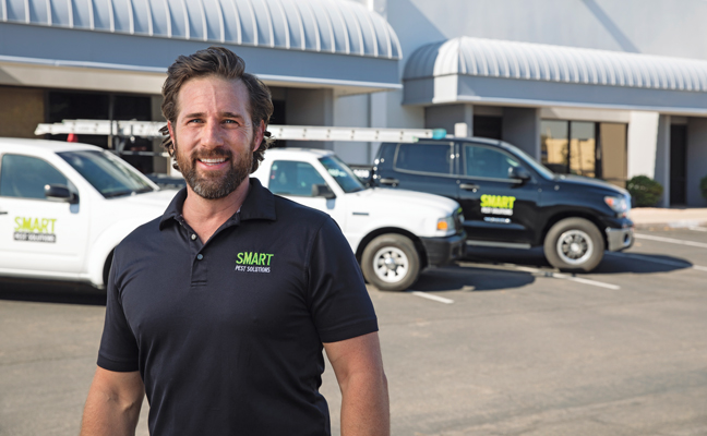 Matt Hamblin, Owner, Smart Pest Solutions. PHOTO: DAVID HUFF PHOTOGRAPHY