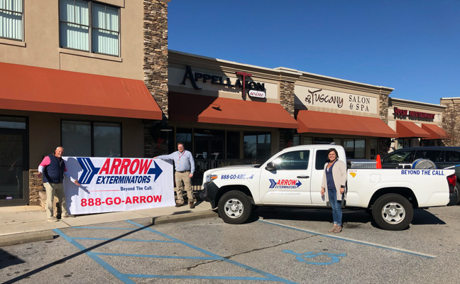 The new Arrow Exterminators location in Clemson, S.C. PHOTO: ARROW EXTERMINATORS