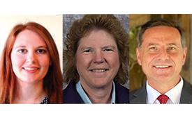 Ashley Roden, BCE; Bobbie Orr, BCE; Dr. Richard Houseman