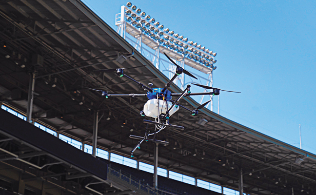 Marlins Park, home of the Major League Baseball team the Miami Marlins, made headlines this spring when Rentokil used drones to disinfect the stadium. Florida Pest Control, a Rentokil company, is the Marlins' official pest control provider. PHOTO: RENTOKIL